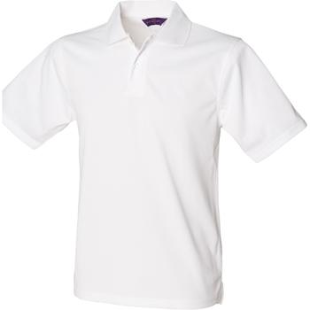 textil Hombre Polos manga corta Henbury HB475 Blanco