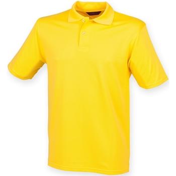 textil Hombre Polos manga corta Henbury HB475 Amarillo