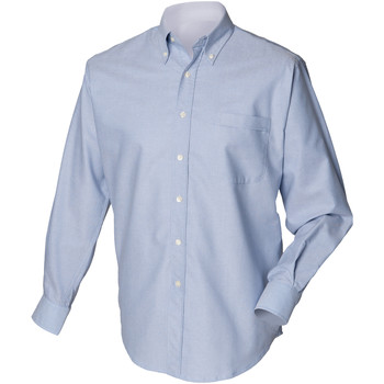 textil Hombre Camisas manga larga Henbury HB510 Azul