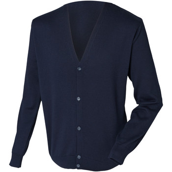 textil Hombre Chaquetas de punto Henbury HB722 Azul marino