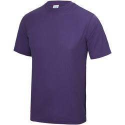 textil Hombre Camisetas manga corta Awdis JC001 Púrpura