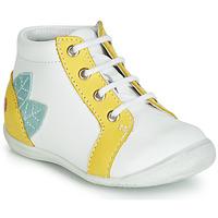 Zapatos Niña Zapatillas altas GBB FRANCKIE Blanco / Amarillo