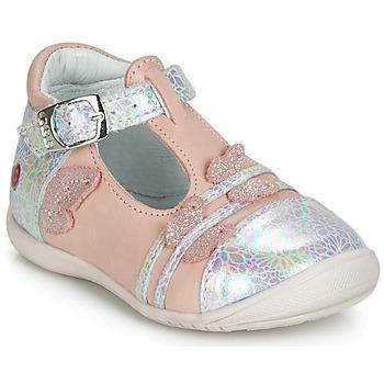 Zapatos Niña Bailarinas-manoletinas GBB MERTONE Rosa / Plata