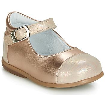 Zapatos Niña Bailarinas-manoletinas GBB BELISTO Rosa / Gold