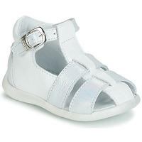 Zapatos Niña Sandalias GBB GASTA Blanco / Plata