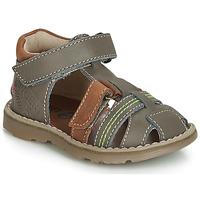 Zapatos Niño Sandalias GBB SEVILLOU Gris / Marrón