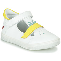 Zapatos Niña Bailarinas-manoletinas GBB ARAMA Vte / Blanco - amarillo / Dpf / Trilly