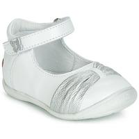 Zapatos Niña Bailarinas-manoletinas GBB MALLA Blanco / Plata