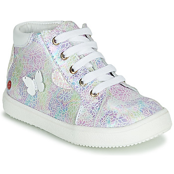 Zapatos Niña Zapatillas altas GBB MEFITA Plata / Rosa