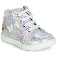 Zapatos Niña Zapatillas altas GBB MEFITA Blanco / Rosa