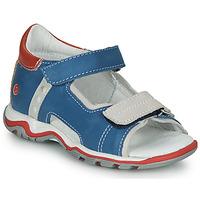 Zapatos Niños Sandalias GBB PARMO Azul / Rojo