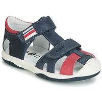 Zapatos Niño Sandalias GBB BERTO Marino / Rojo