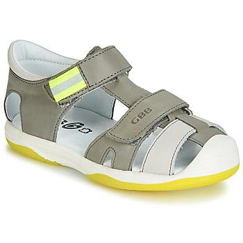 Zapatos Niño Sandalias GBB BERTO Gris / Amarillo