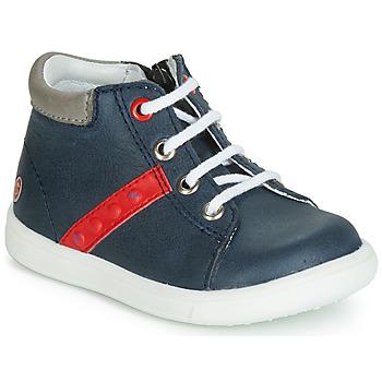 Zapatos Niño Zapatillas altas GBB FOLLIO Marino / Rojo
