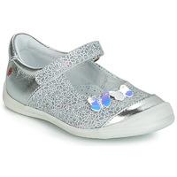 Zapatos Niña Bailarinas-manoletinas GBB SACHIKO Ctv / Plata - imprime  / Gris / Dpf / Zafra