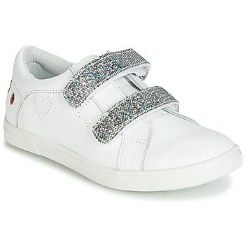 Zapatos Niña Zapatillas bajas GBB BALOTA Blanco / Plata