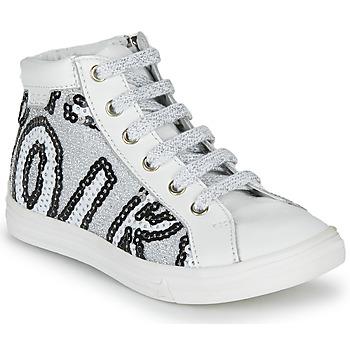 Zapatos Niña Zapatillas altas GBB MARTA Blanco / Plata