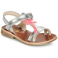 Zapatos Niña Sandalias GBB SAPELA Plata / Rosa
