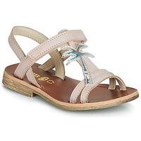 Zapatos Niña Sandalias GBB SAPELA Rosa / Plata