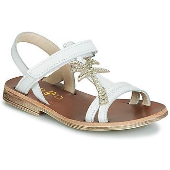 Zapatos Niña Sandalias GBB SAPELA Blanco / Oro