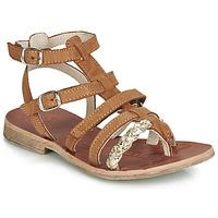 Zapatos Niña Sandalias GBB NOVARA Cognac / Oro