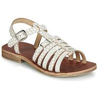 Zapatos Niña Sandalias GBB BANGKOK Blanco / Beige
