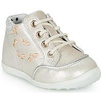 Zapatos Niña Zapatillas altas Catimini BALI Vte / Beige - plata / Dpf / Gluck