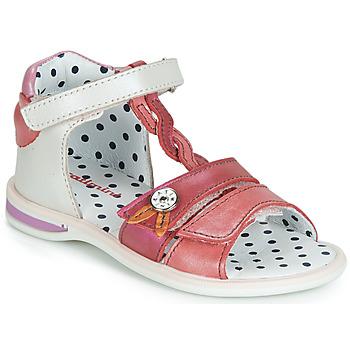 Zapatos Niña Sandalias Catimini GOROKA Blanco / Rojo