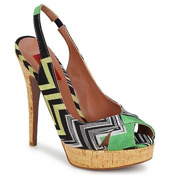 Zapatos Mujer Sandalias Missoni RM71 Verde