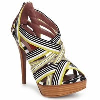 Zapatos Mujer Sandalias Missoni RM20 Amarillo / Blanco
