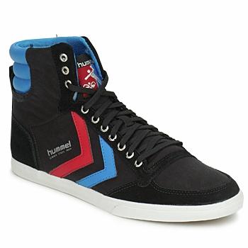 Zapatos Zapatillas altas Hummel TEN STAR HIGH CANVAS Negro / Azul / Rojo