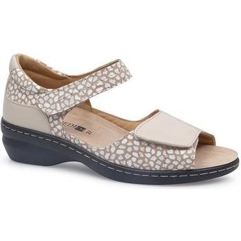 Zapatos Mujer Sandalias Calzamedi FASHIO BEIGE
