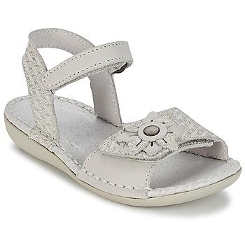 Zapatos Niña Sandalias Kickers EVANA Blanco / Roto