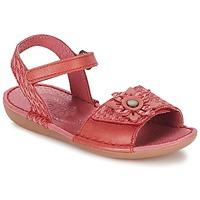 Zapatos Niña Sandalias Kickers EVANA Rojo / Coral