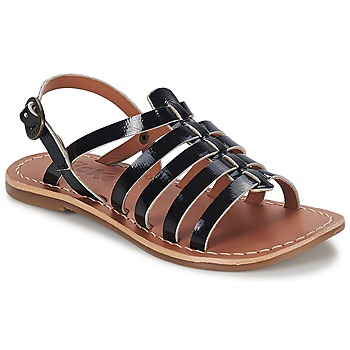 Zapatos Niña Sandalias Kickers DIXMILLION Negro / Barniz