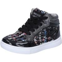 Zapatos Niña Zapatillas altas Enrico Coveri sneakers negro textil charol BX822 negro