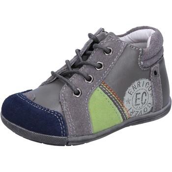 Zapatos Niño Zapatillas bajas Enrico Coveri sneakers gris gamuza cuero BX827 gris
