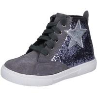 Zapatos Niña Zapatillas altas Enrico Coveri sneakers gris glitter gamuza BX839 gris