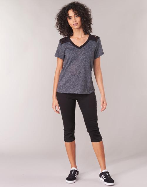Jatara Negro Textil Yurban Mujer Cortos Pantalones OvnmNwy80