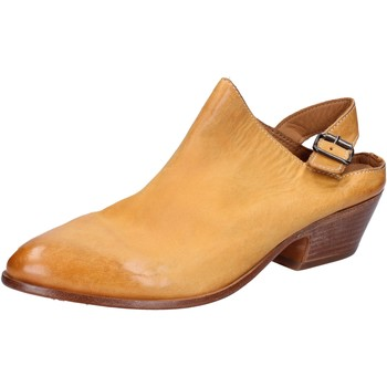Zapatos Mujer Sandalias Moma sabot sandalias amarillo cuero BX975 amarillo