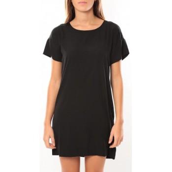textil Mujer Vestidos cortos Vero Moda Reba ss mini dress 10100945 Noir/Bleu Negro