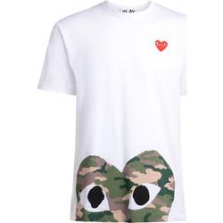 textil Hombre camisetas manga corta Comme Des Garcons Camiseta  blanca con corazón camuflaje Blanco
