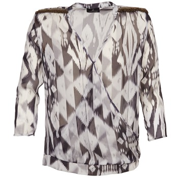 textil Mujer Tops / Blusas One Step CREPUSCULE Gris / Blanco