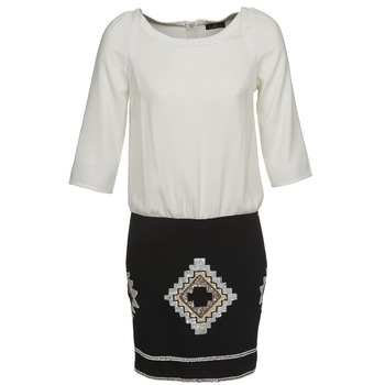 textil Mujer vestidos cortos One Step RAMBOUTAN Blanco / Negro