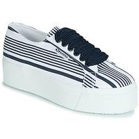 Zapatos Mujer Zapatillas bajas Superga 2790 COT MULTI STRIPE W Blanco
