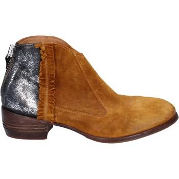 Zapatos Mujer Low boots Moma botines amarillo gamuza plata cuero BT10 amarillo