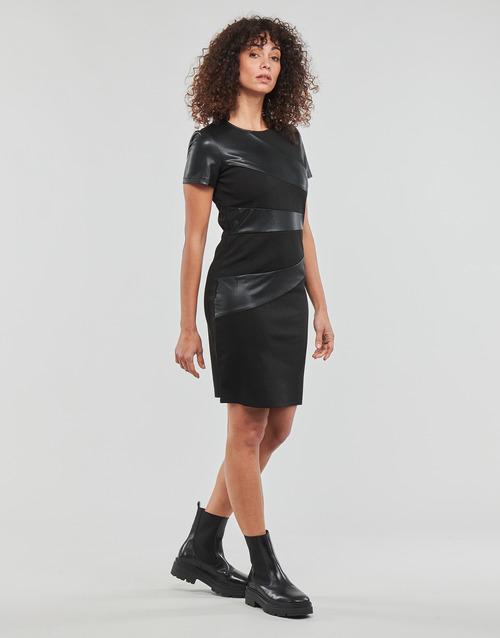 Joulou Mujer Mood Textil Vestidos Cortos Moony Negro xdBoCer
