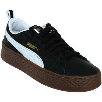 Zapatos Zapatillas bajas Puma Smash platform Cuero negro/blanco