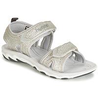 Zapatos Niña Sandalias Hummel SANDAL GLITTER JR Plata