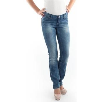 textil Mujer vaqueros slim Lee Marlin Slim Straight L337OBDJ azul